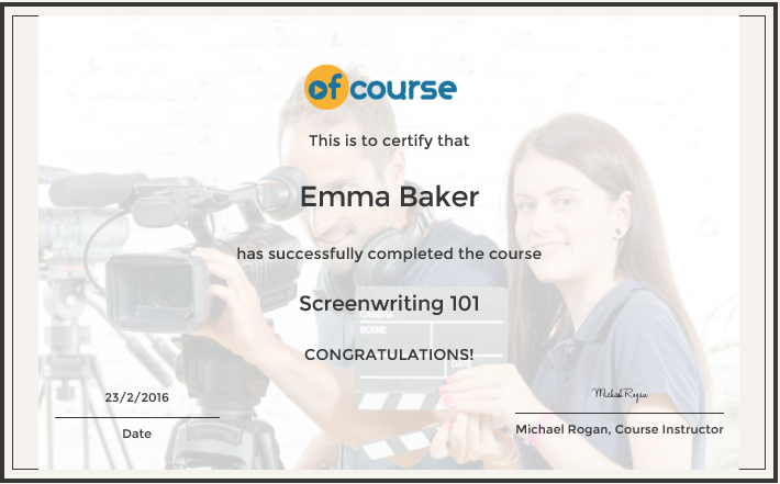 screenwriting courses Short courses end of term questionnaire payment response the novel studio tutor information alumni through our practical screenwriting short course.