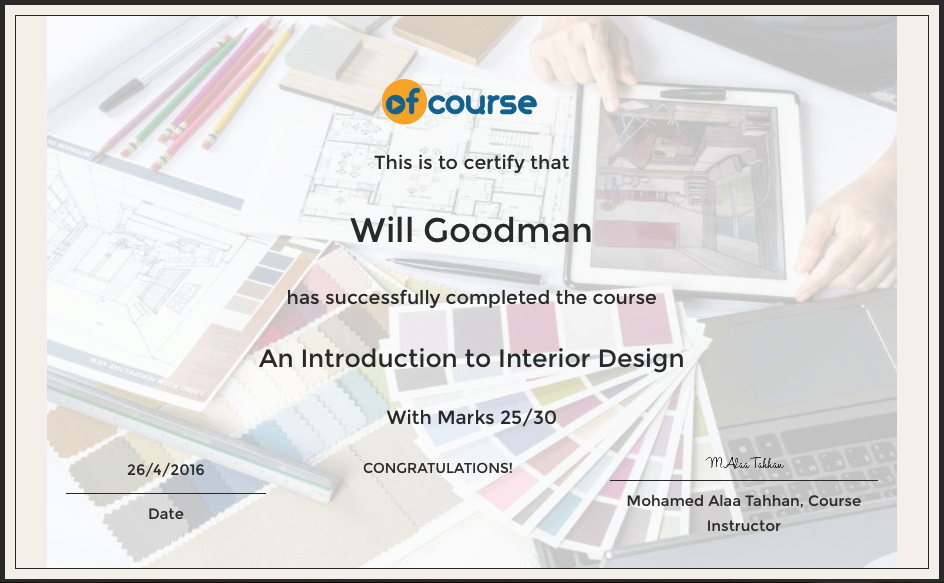 Introduction To Interior Design Course