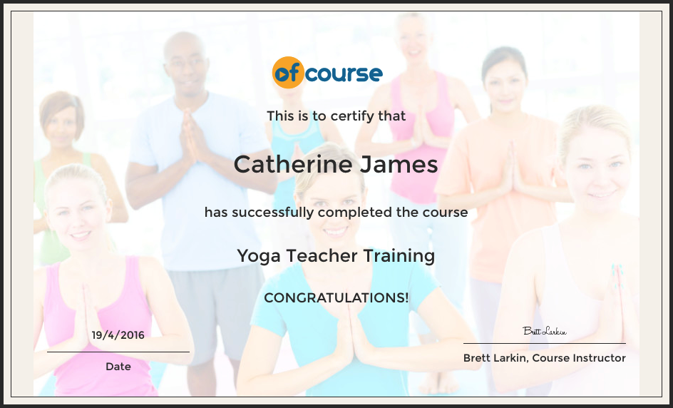 Yoga Teacher cert