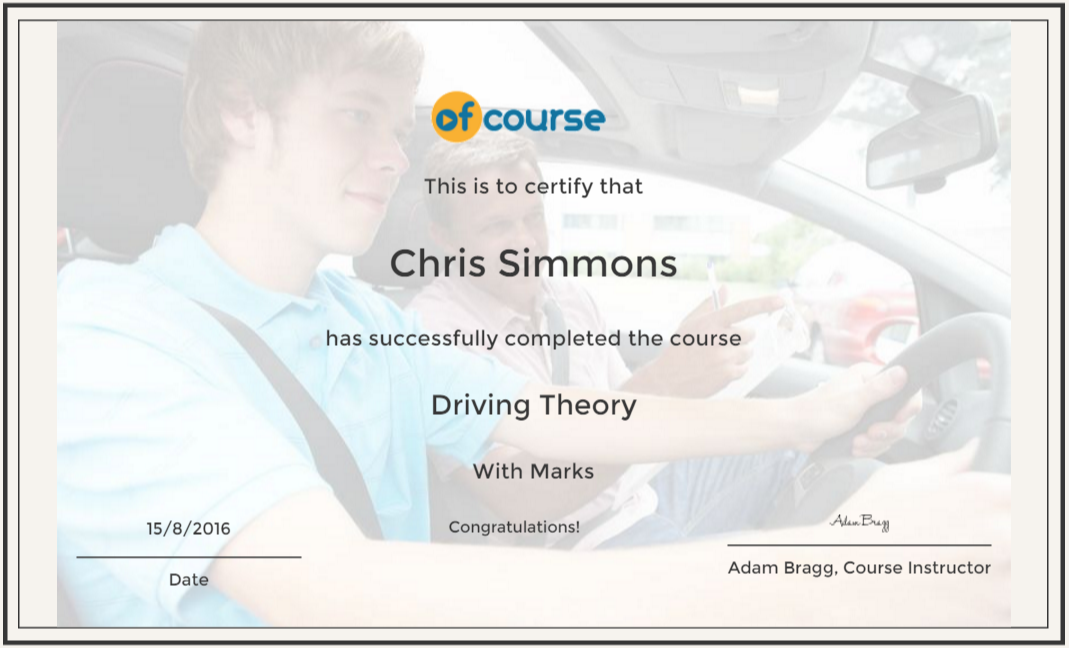 Driving Test Cert