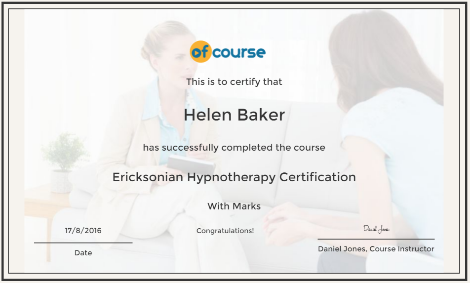 Ericksonian Hypnotherapy Certification course | reed.co.uk