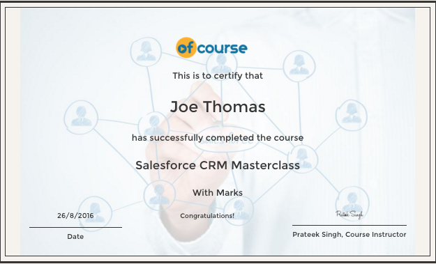 CRM salesforce cert